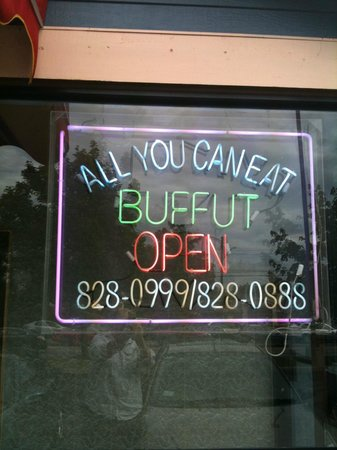 Mongolian Buffet :                   I love their sign, mispellings and all