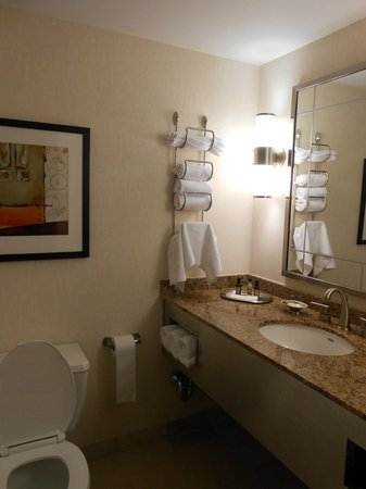 New York Marriott Marquis: Bathroom