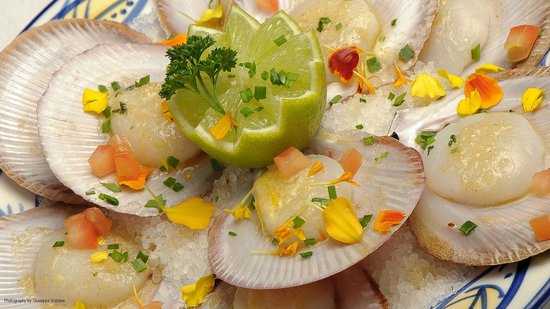 Nick's Swiss Italian Restaurant: Scallops with lime!