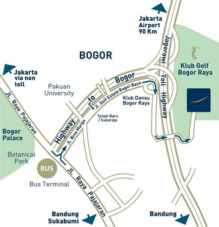 Access Map Picture of Novotel Bogor Golf Resort and Convention