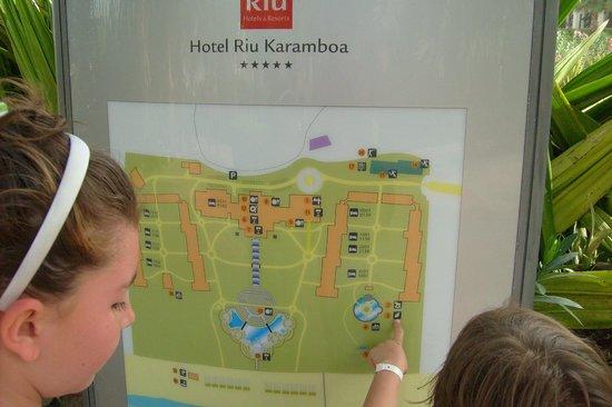 Clubhotel Riu Karamboa:                                     la piantina del villaggio