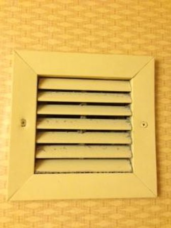 Holiday Inn Houston Intercontinental Airport: Bathroom air vent covered in dirt