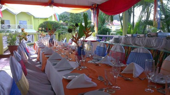 Bay Gardens Hotel:                   preparations for wedding