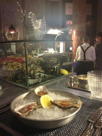 GB1 Seafood Restaurant and Bar:                   Champagne and oysters at The Grand