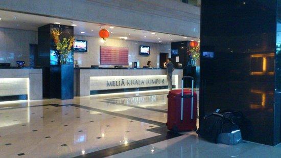 Melia Kuala Lumpur:                   la reception