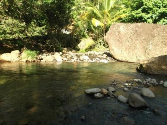 Serenity Lodges Dominica: River pool two minutes walk