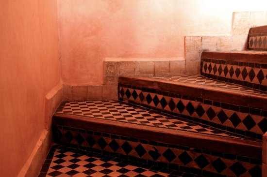 Riad Asna:                   Stairs to the roof terrace