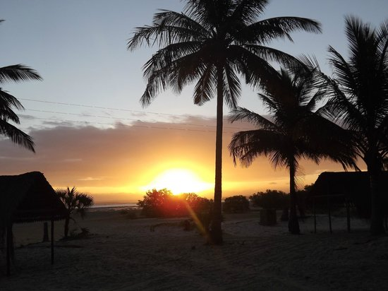 Areia Branca Lodge:                   One of the many incredible sunsets we enjoyed
