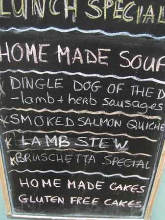 The Garden Cafe:                   Today's specials