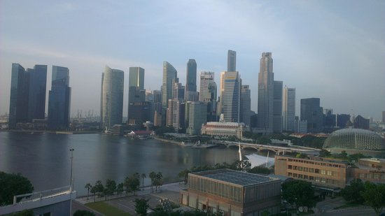 Mandarin Oriental, Singapore: view from the room - gorgeous
