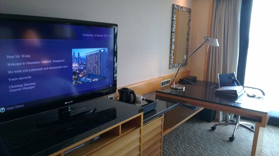 Mandarin Oriental, Singapore: tv