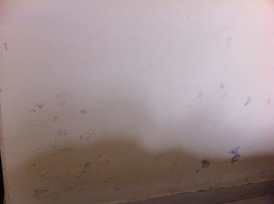 Hotel City Inn:                   dirty wall in the bedroom