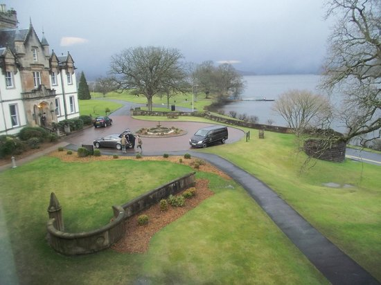 Cameron House on Loch Lomond:                   view from our room