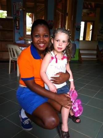 Grand Paradise Samana: la fille du mini club delianny