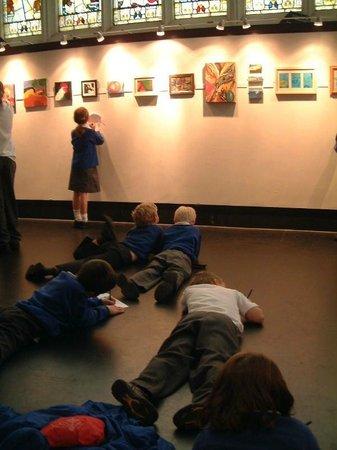 Salisbury Arts Centre: Enjoying an exhibiton