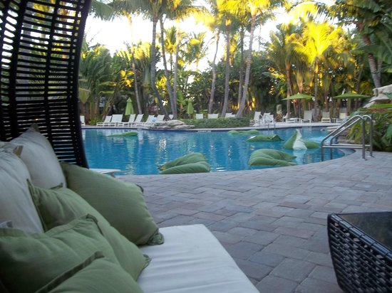 The Inn at Key West:                   Pool area showing floating pillows