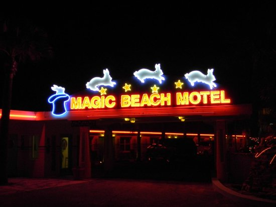 Magic Beach Motel:                   Love the lights