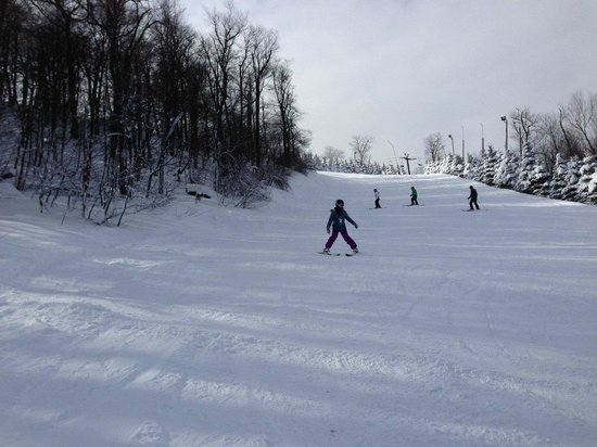 Seven Springs Mountain Resort: Skiing down a blue trail with instructor