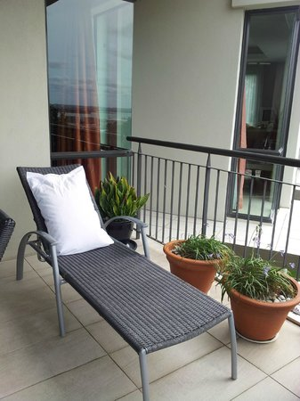 Ascot Parnell Boutique Bed and Breakfast:                   The balcony where I was allowed to take a peaceful rest before leaving for the