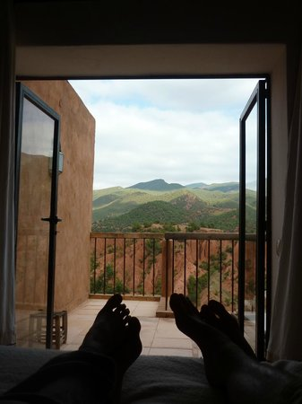 Kasbah Bab Ourika:                   View from our bed!!!