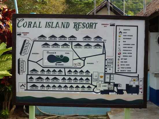 ‪‪Coral Island Resort‬:                   plan du site