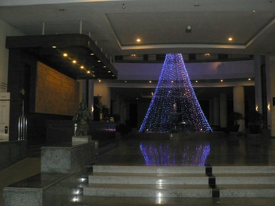 Loei Palace Hotel:                   Entrance - still lit after the New Year