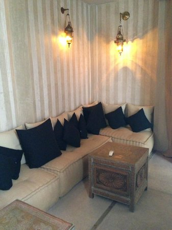 Riad Joya:                   seating area