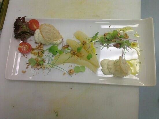 Clink Cardiff:                   our goats cheese and pressed pear starter
