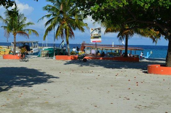 Palm Villa:                   Velidhoo hamn.