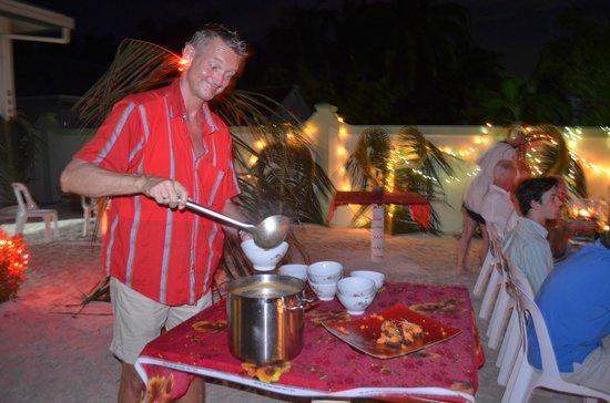 Middag på Palm Villa.
