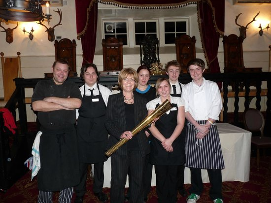 The Speech House Hotel:                   The Dining Team with the Olympic Torch                 