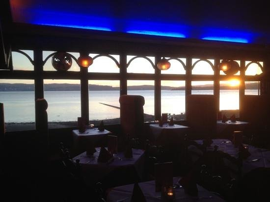 The Ruby:                   The wonderful sunset view in Ruby restaurant helensburgh