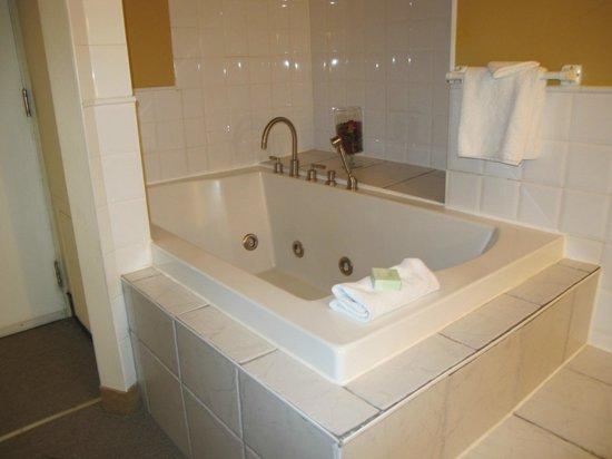 Auberge Le Pomerol:                   Le bain tourbillon dans la chambre