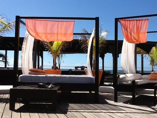 Silver Point Hotel:                   luxurious poolside beds