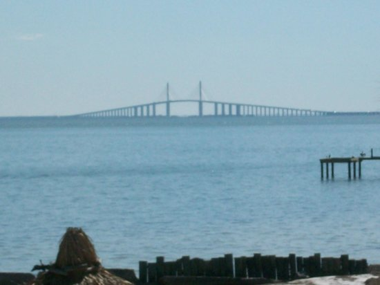 Magnuson Hotel Marina Cove:                   Sunshine Skyway Bridge