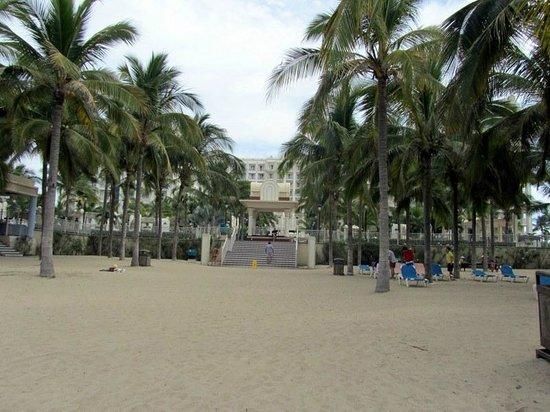 Hotel Riu Vallarta:                   View from beach