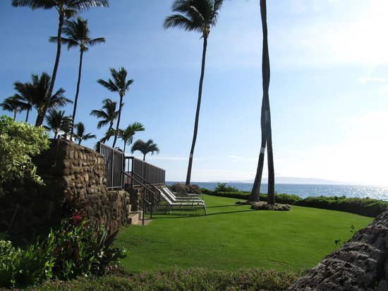 Royal Mauian:                                     Oceanfront condo.  No need to cross S.Kihei road to get to t