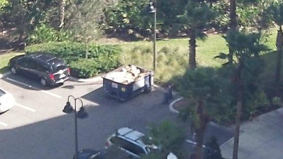 Wyndham Bonnet Creek Resort:                   Dumpster outside Presidential unit