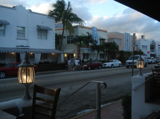 The President Hotel - Miami Beach:                   View from the patio