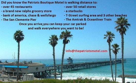 The Patriots Boutique Motel: Location Location Location