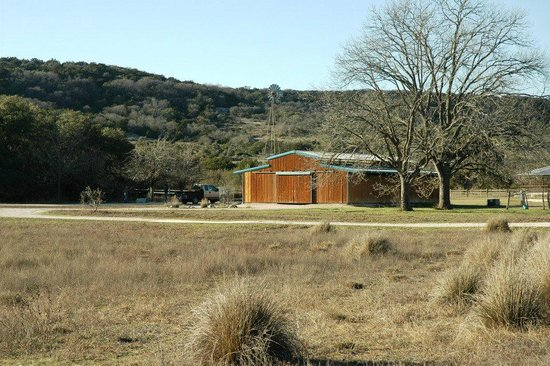 Hill Country Equestrian Lodge:                   View from in front of cabin