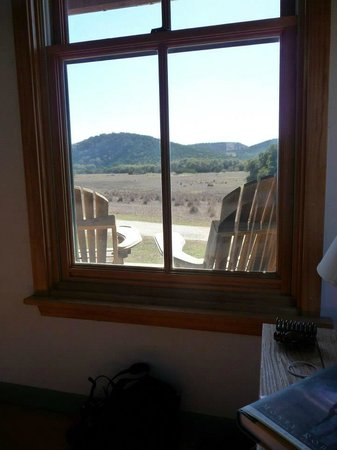 Hill Country Equestrian Lodge:                   view from bed