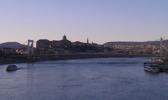 Hilton Budapest:                   River Danube looking out to the Buda Castle