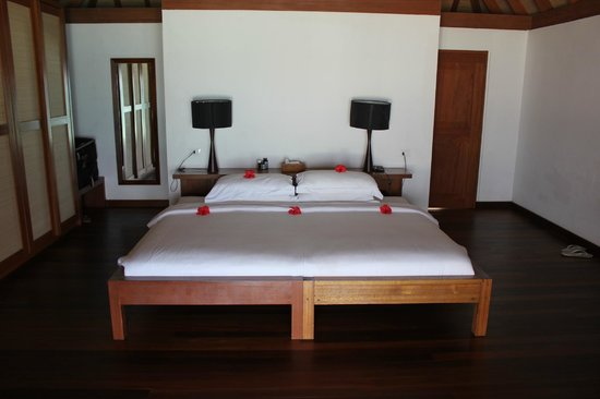 Gangehi Island Resort:                   Bedroom Beach Villa