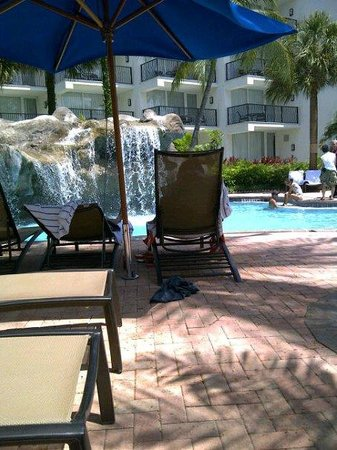Aruba Marriott Resort & Stellaris Casino:                   Waterfall at pool
