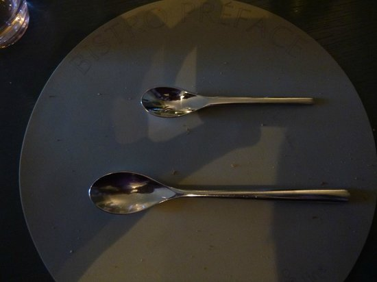 Le Grand Pre: Very thoughtful dessert spoons