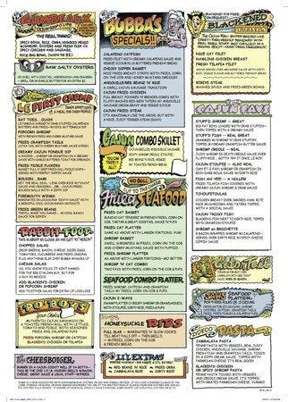 Razzoo's Cajun Cafe: Menu