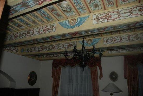 Hotel U Zlateho Stromu :                   Camera: particolare della soffitta