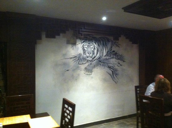 SUNRISE Select Royal Makadi Resort:                   Wall decoration in asian restaurant