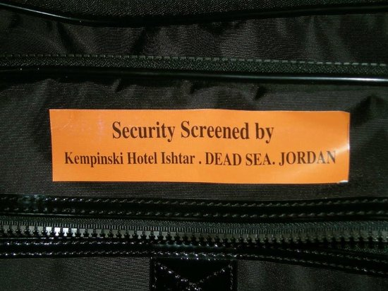 Kempinski Hotel Ishtar Dead Sea:                                     Overzealous security